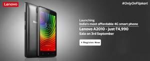 Lenovo A2010 Only on Flipkart