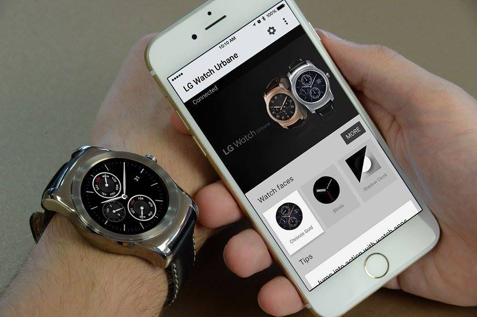 LG Watch Urbane with iPhone