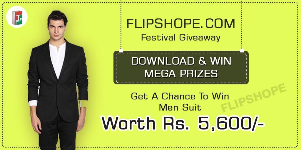 Flipshope Festival Giveaway Men's Suit offer