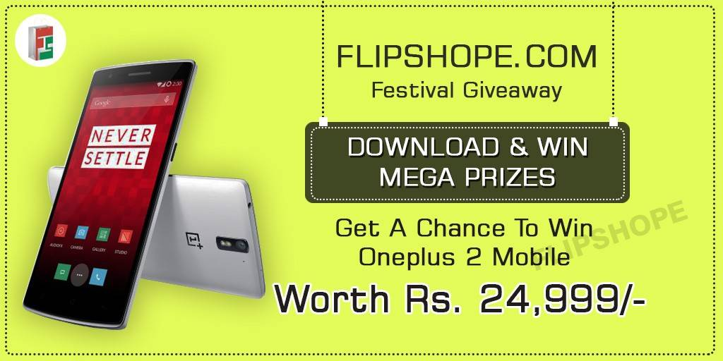 Flipshope Festival Giveaway One PlusTwo Offer