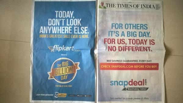 flipkart vs snapdeal