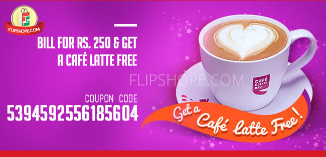 Bill for Rs.250 and get a CAFE LATTE free
