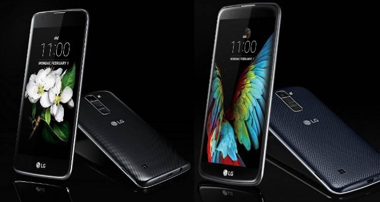 lg k7 k10 smartphone