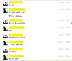 Facebook chat snapshoot