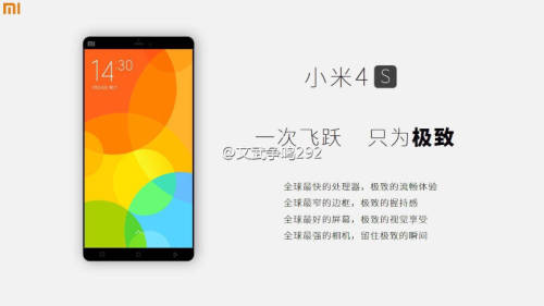 Xiaomi 4s with fingerprint scanner