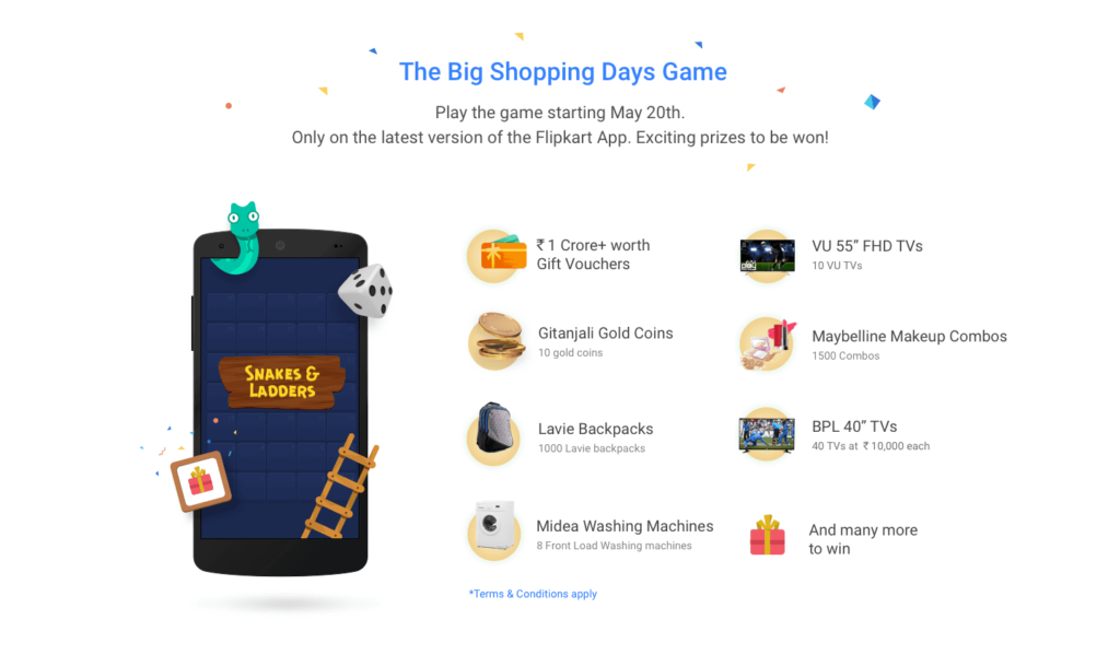 www.bit.ly/Flipkart Big Shopping days Game