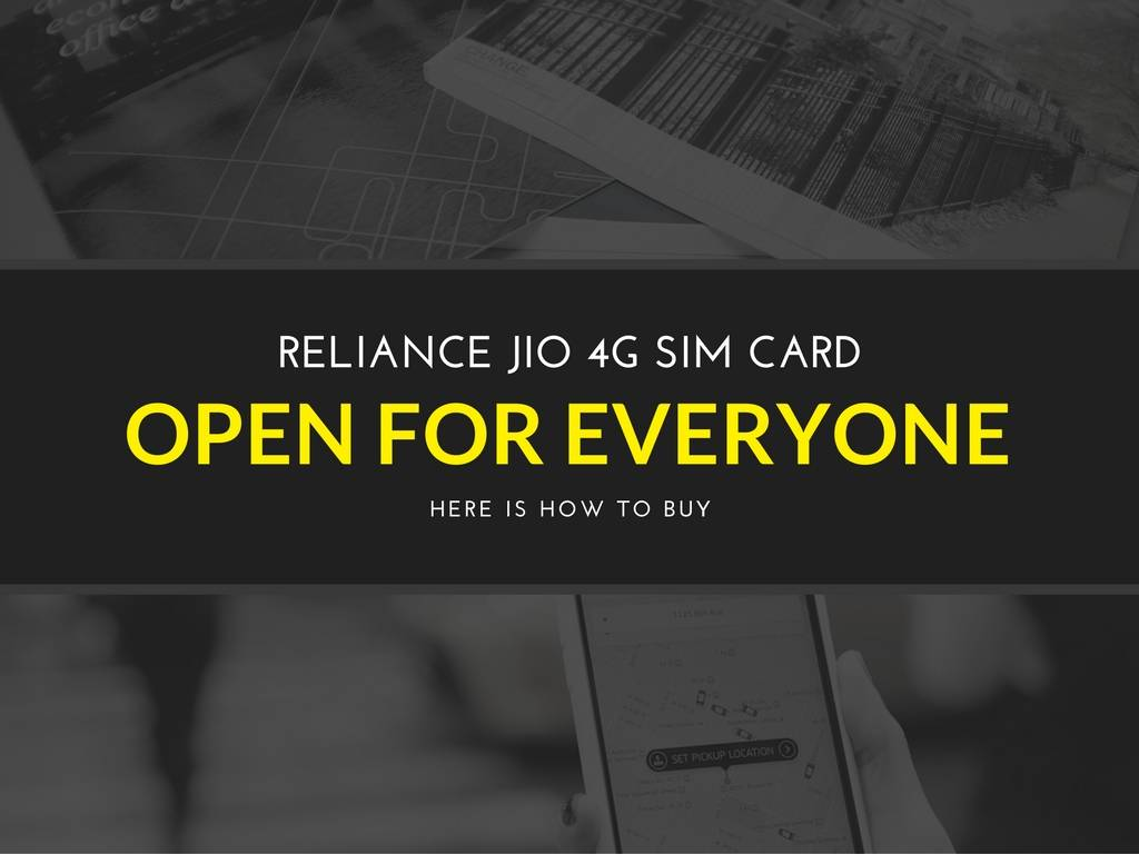 How to buy Jio 4G Sim CARD