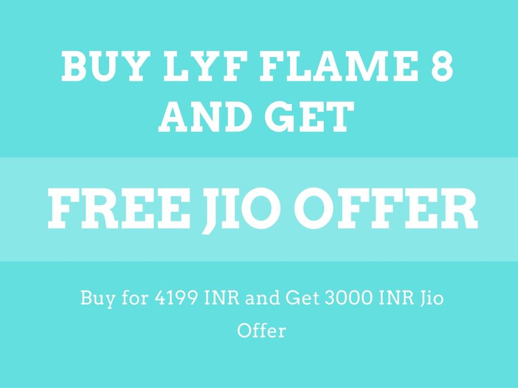 LYF FLAME 8 Jio Offer