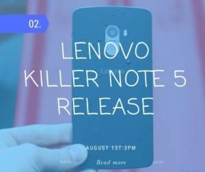 Lenovo Killer note 5 Price