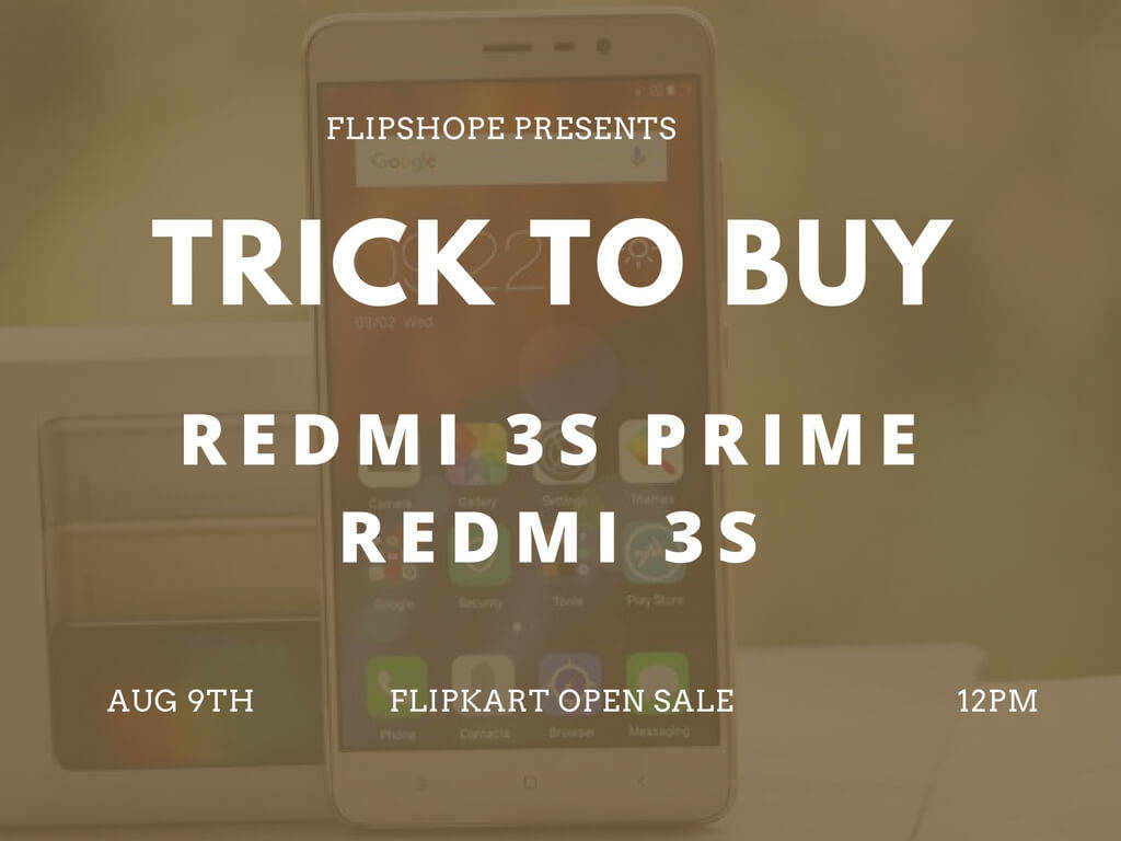 Redmi 3s Prime flash sale