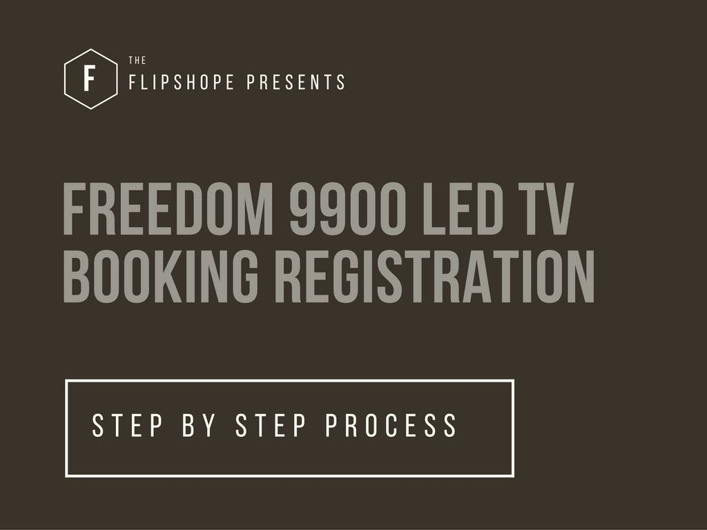 freedom 9900 led tv booking