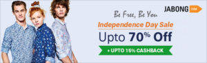 Jabong Independence day offers