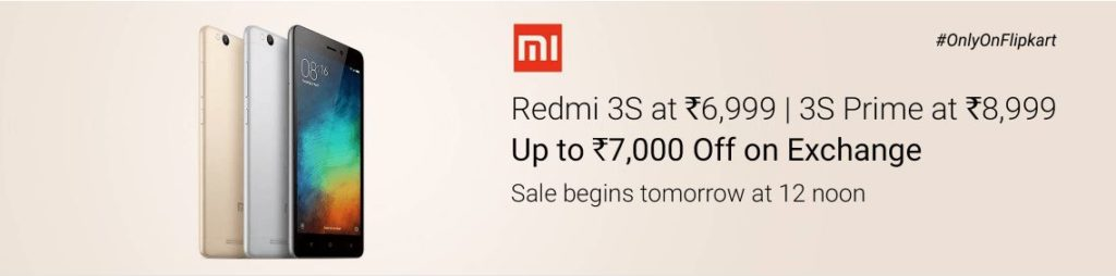xiaomi Redmi 3s prime second sale