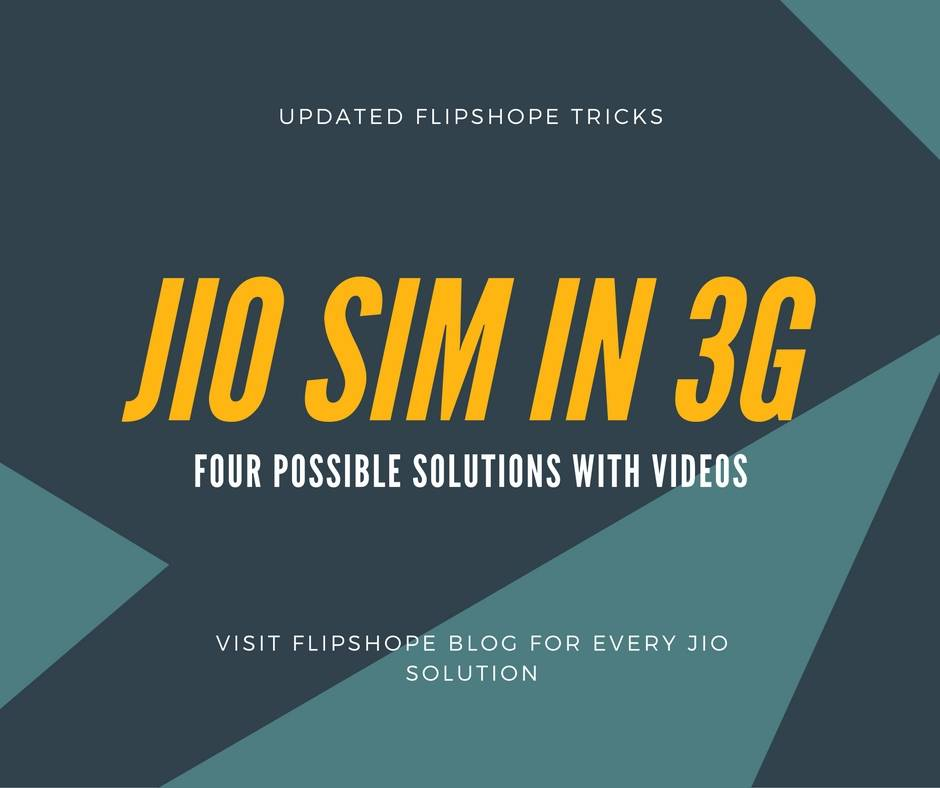 Reliance Jio 4G Sim in 3G Phone