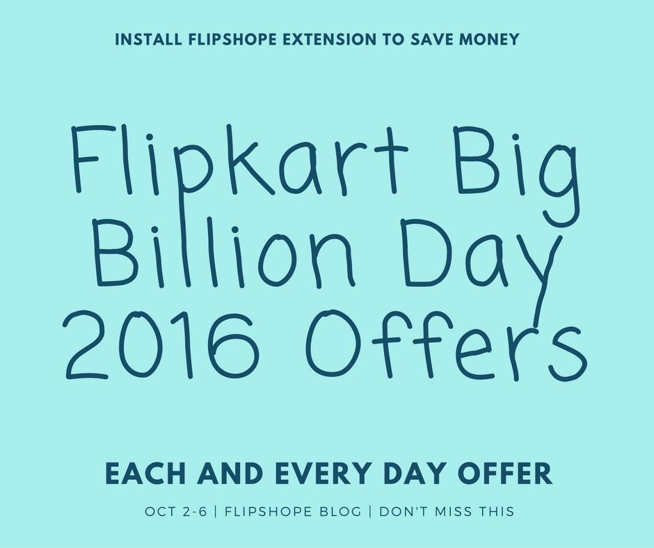 flipkart big billion day 2016