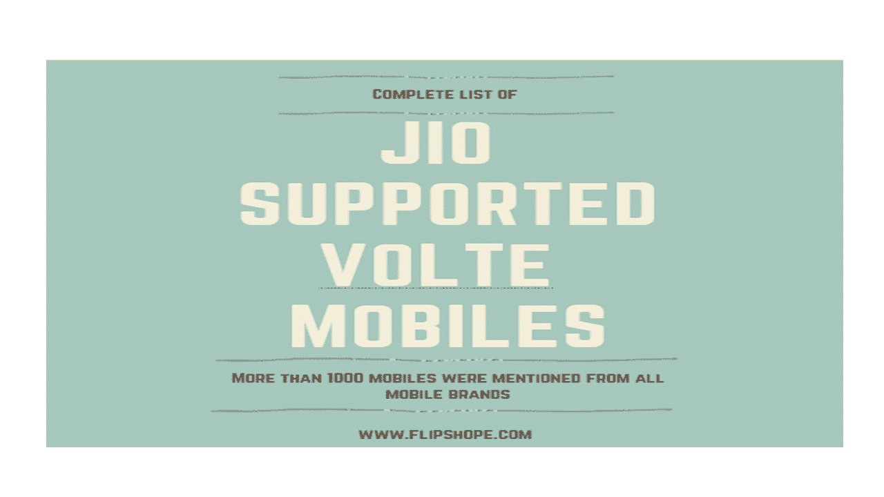 reliance jio volte supported mobiles