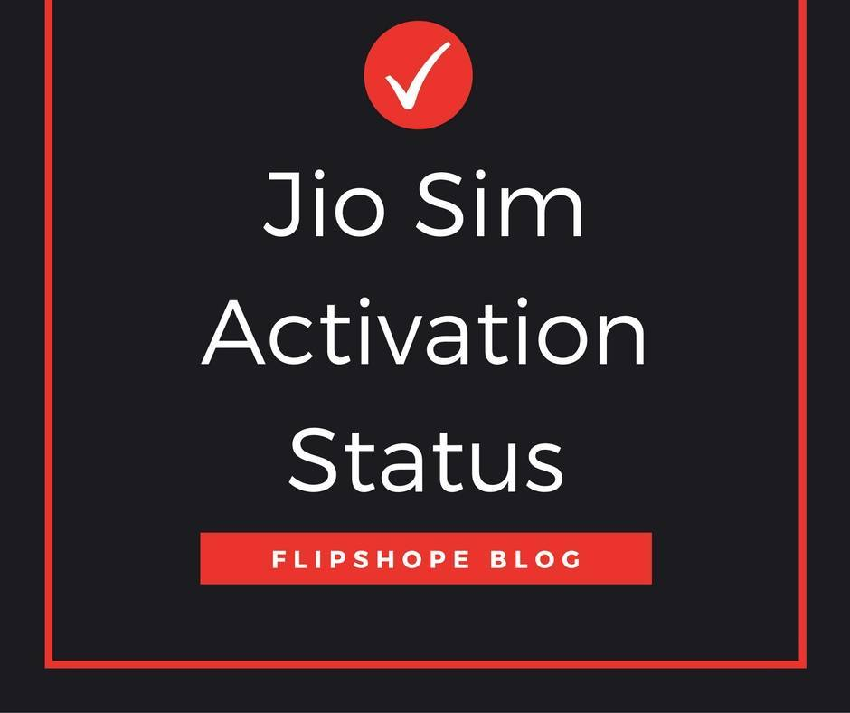 jio sim activation status