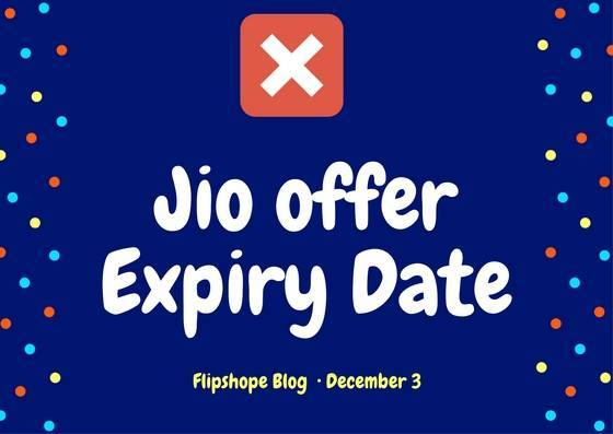 jio sim offer expiry date