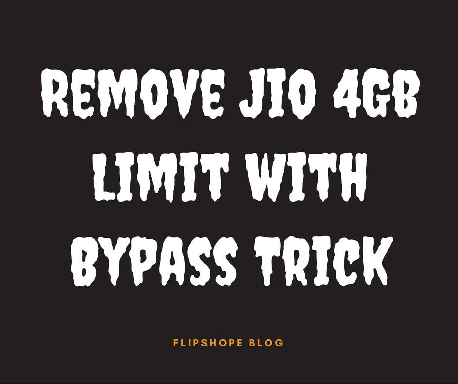 how to remove jio 4gb limit bypass trick solution timing