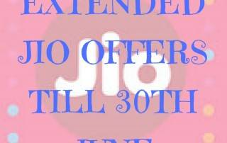 Reliance JIO June 2017 Extended Offer