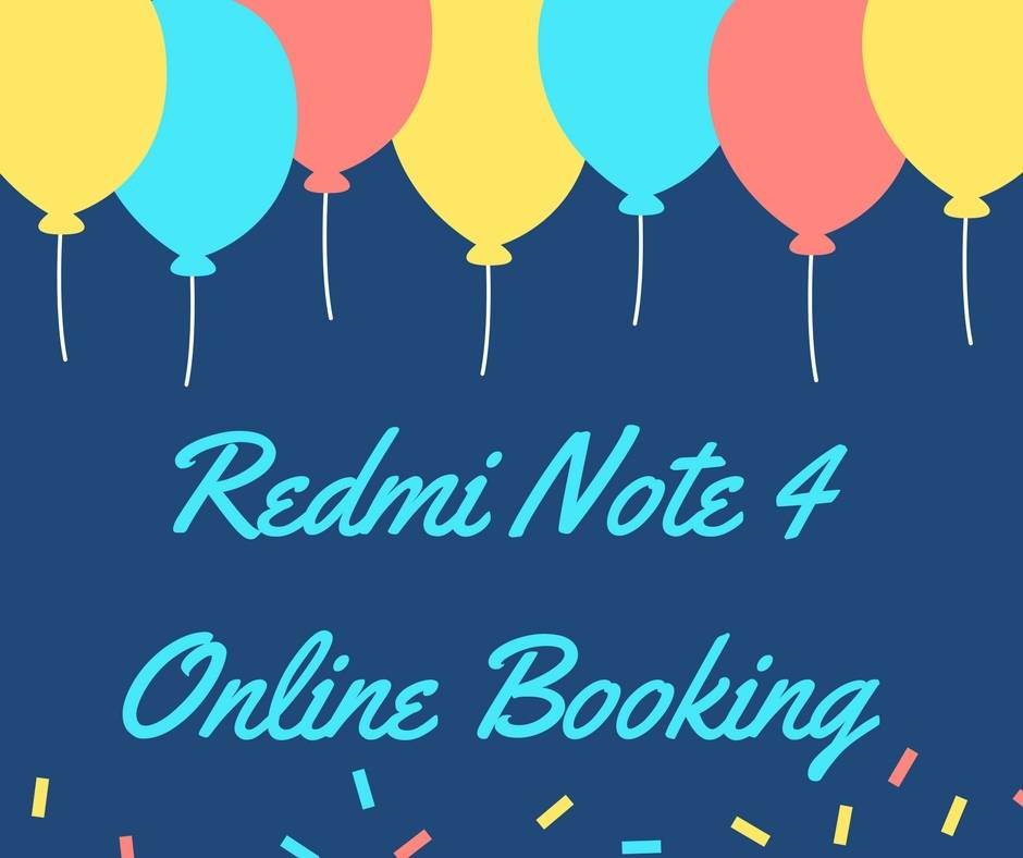 redmi note 4 online booking registration