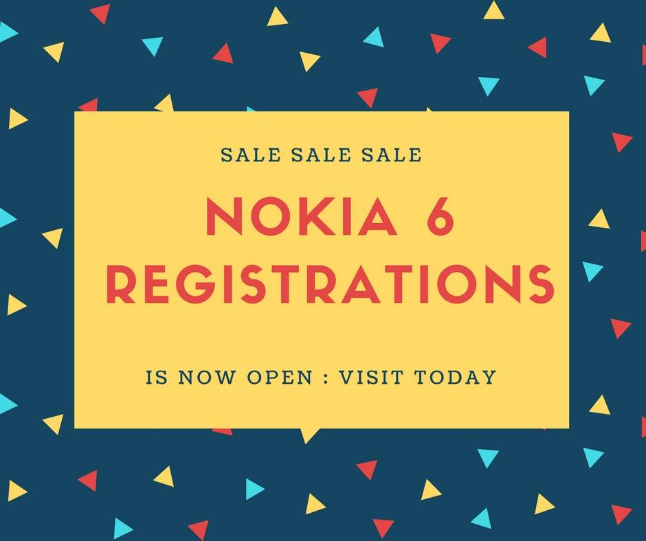 trick to buy nokia 6 flash sale registrations
