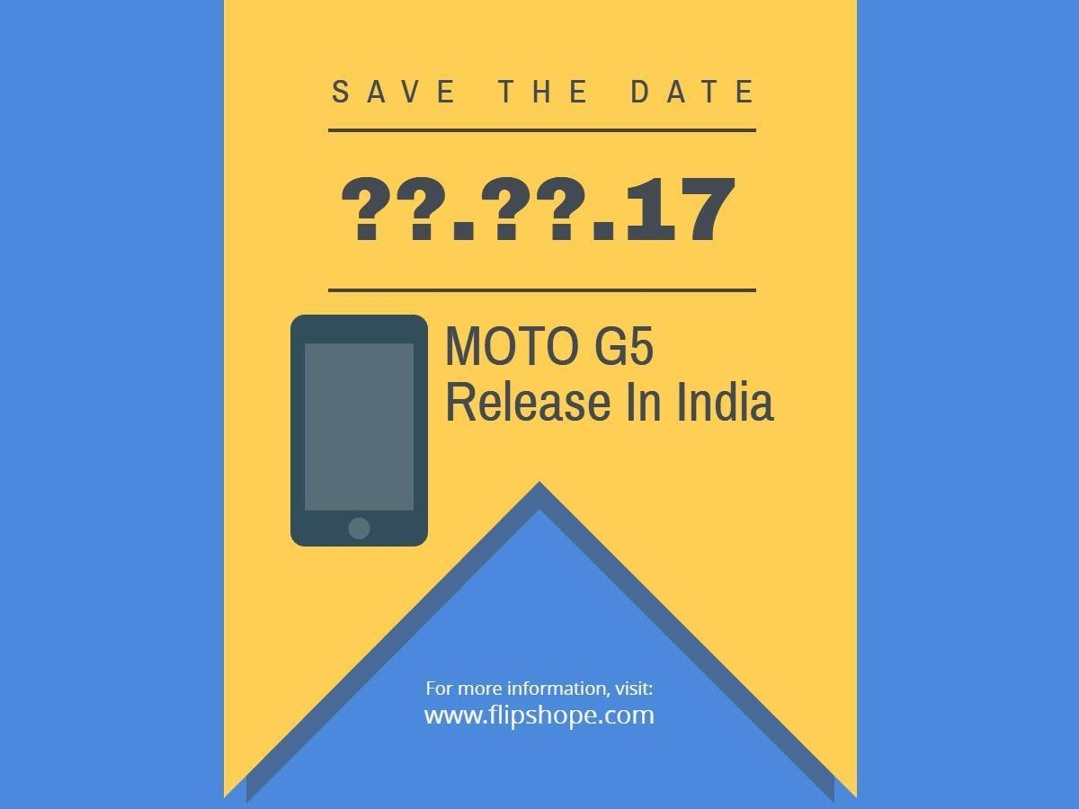 Moto G5 Release Date in india
