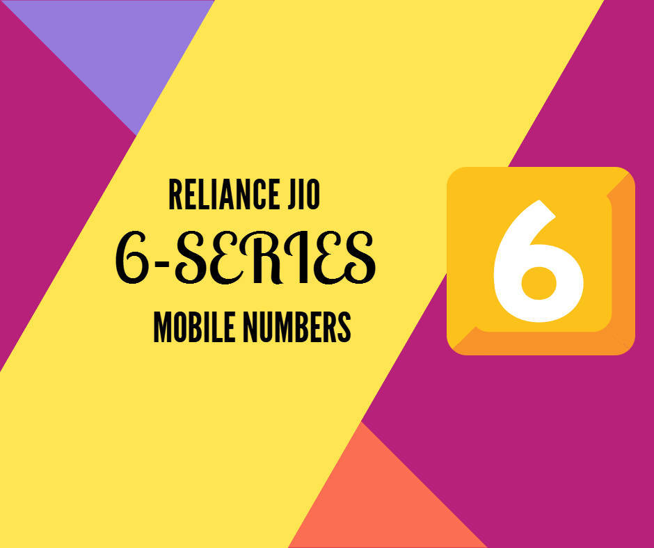 jio 6 series mobile numbers