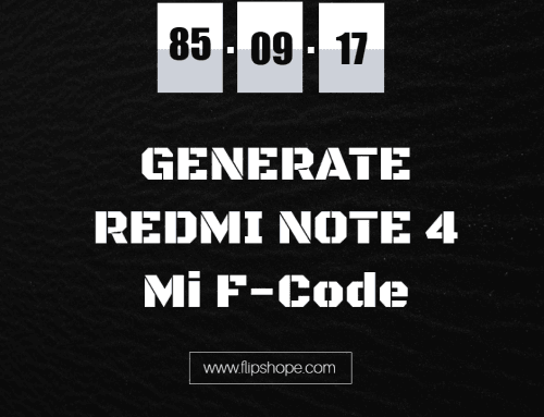 How To Generate Mi F-Code and Use it To Get Redmi Note 4 Mobile at any time