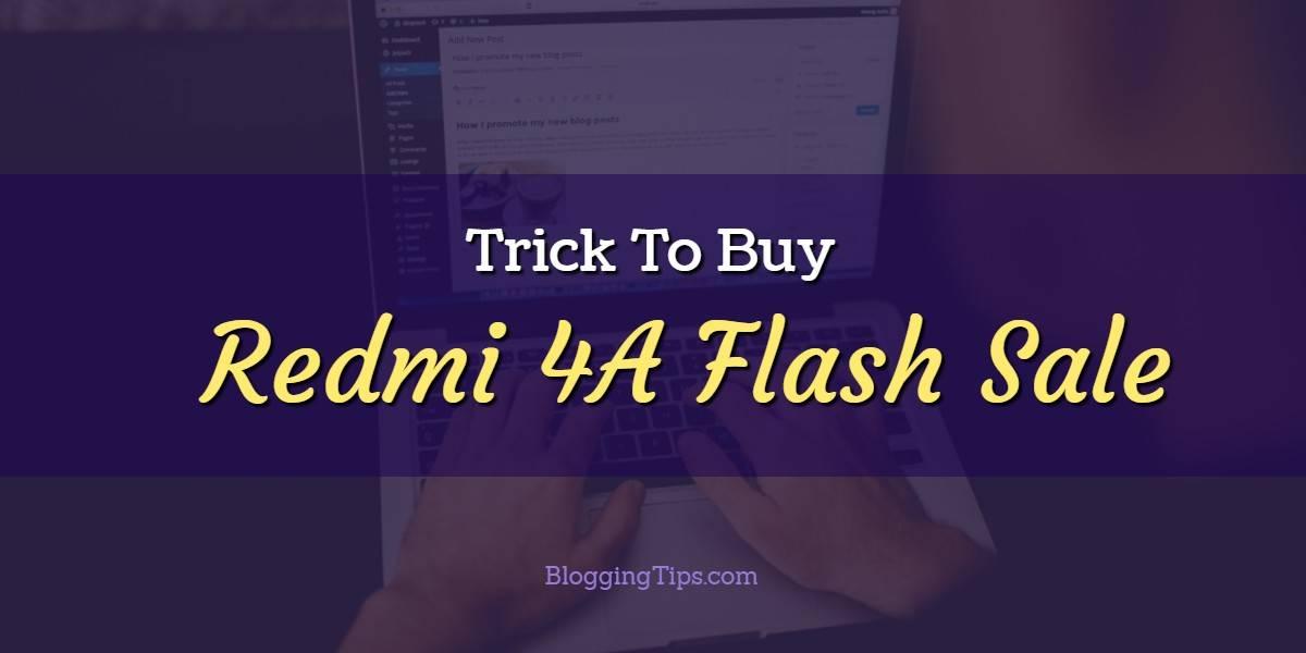 Redmi 4A Flash Sale Script Auto-Buy On Amazon & Mi.com
