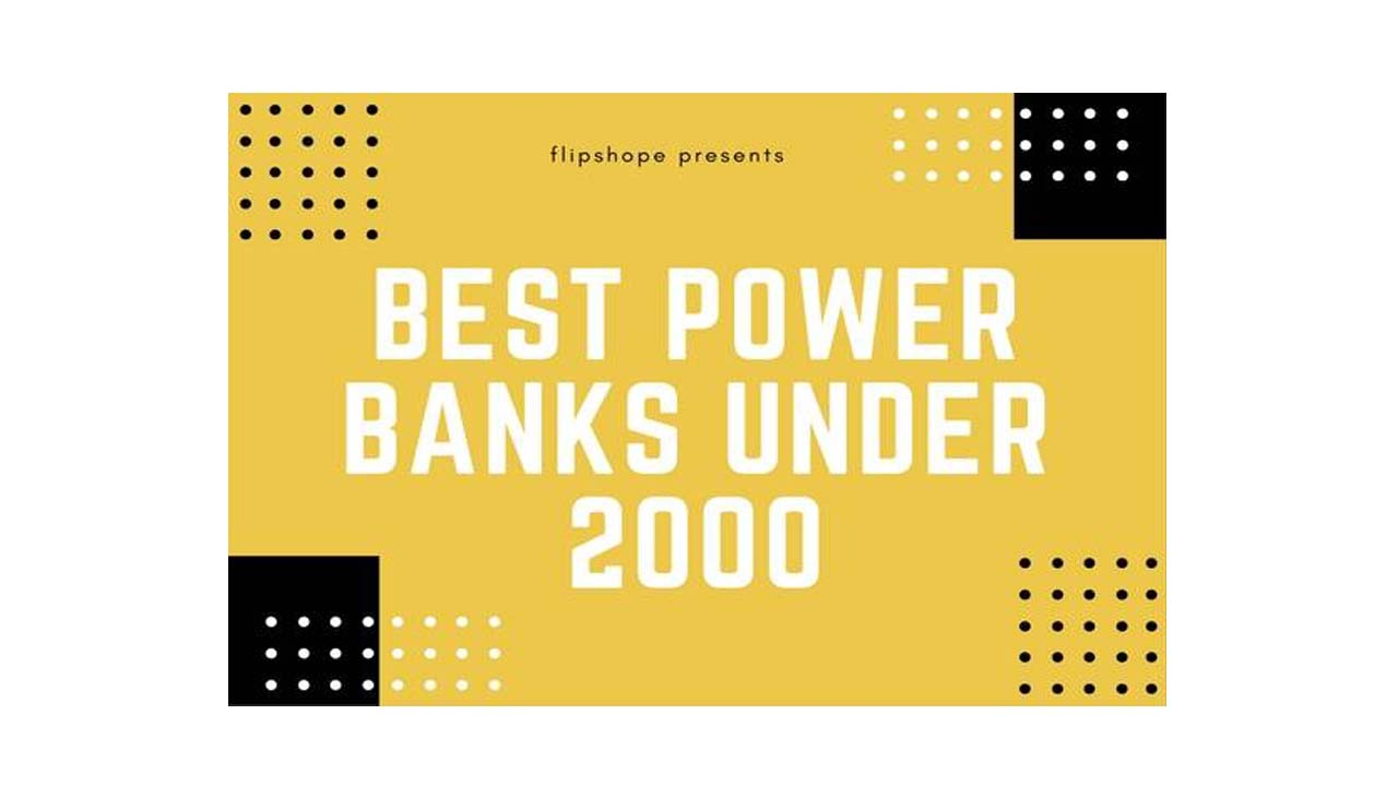 best power banks under 2000 rs in india