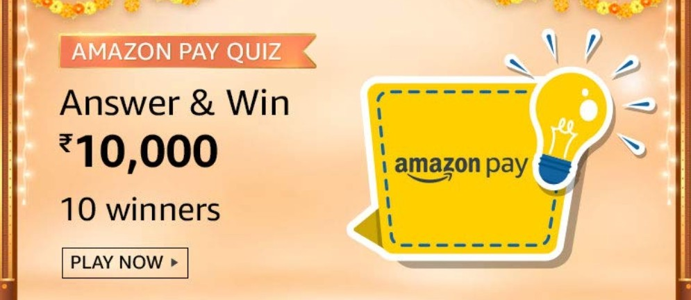 Amazon Quiz Answers - Win Rs. 10,000