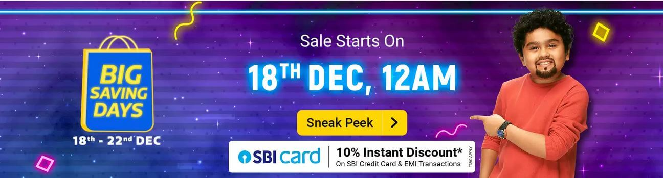 Flipkart Big Saving Days Sale December 2020