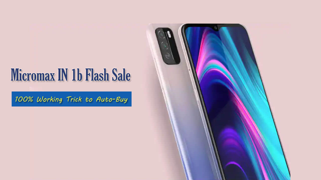 Micromax IN 1b flash sale