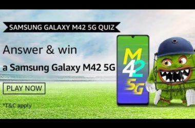 Amazon Samsung Galaxy M42 5G Quiz Answers
